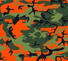 Orange Green Camouflage by ARTPICSS