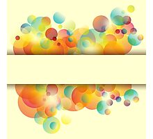 Abstract colorful background Photographic Print