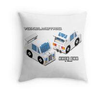 VoxelMetric Race Car Throw Pillow