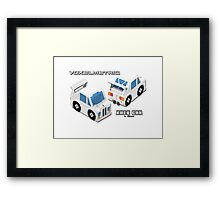 VoxelMetric Race Car Framed Print