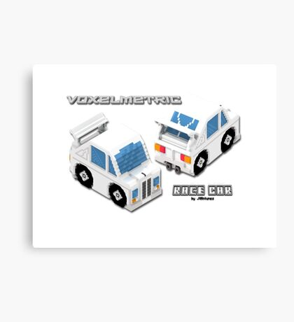 VoxelMetric Race Car Canvas Print