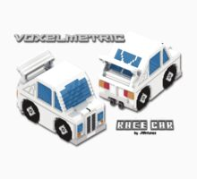 VoxelMetric Race Car Kids Tee