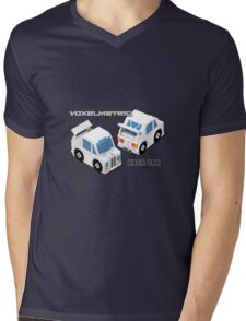 VoxelMetric Race Car Mens V-Neck T-Shirt