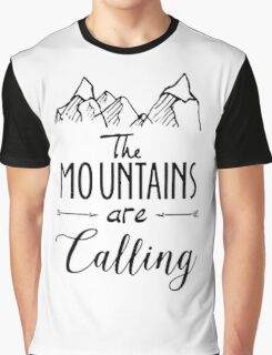 The mountains Are Calling Climbing Hiker Trail Camp Graphic T-Shirt