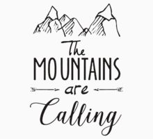The mountains Are Calling Climbing Hiker Trail Camp Kids Tee