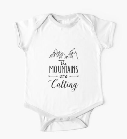 The mountains Are Calling Climbing Hiker Trail Camp One Piece - Short Sleeve