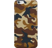 Brown Camouflage iPhone Case/Skin