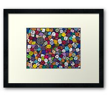 Gamer Dice Framed Print