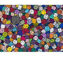 Gamer Dice Photographic Print