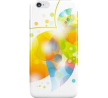 colorful abstract flower leaf iPhone Case/Skin