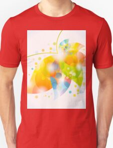 colorful abstract flower leaf T-Shirt