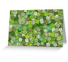 Forest Dice Greeting Card