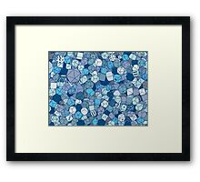 Frost Dice Framed Print