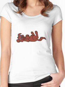 Red Dog - Roll Over Women's Fitted Scoop T-Shirt