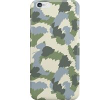 Green Gray Brown Camouflage iPhone Case/Skin