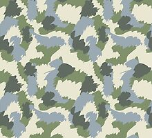 Green Gray Brown Camouflage by ARTPICSS