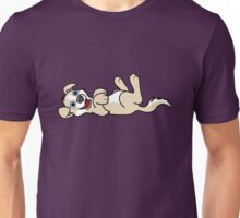 Tan Dog with Blaze - Roll Over Unisex T-Shirt