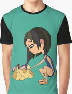Girl with send Graphic T-Shirt
