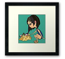 Girl with send Framed Print