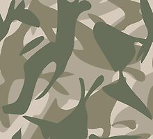 Grey and Green Camouflage by ARTPICSS