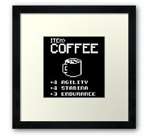 Soft Funny Coffee Framed Print