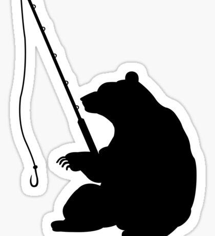 Bear Fishing Sticker