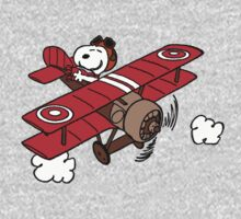 Snoopy Flying  One Piece - Short Sleeve