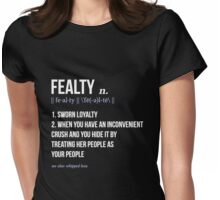 fealty clexa definition  Womens Fitted T-Shirt