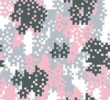 Pink Pixel Camouflage by ARTPICSS