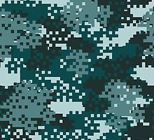 Turquoise Pixel Camouflage by ARTPICSS