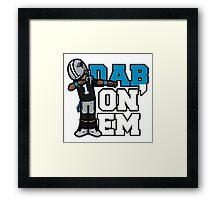 Cam Newton Defends Super Bowl Framed Print