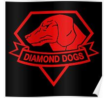 Diamond Dogs Red Poster