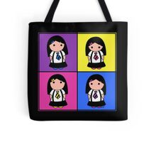 Tie Girl Kim Squared Tote Bag