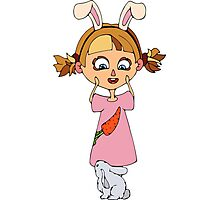 Funny bunny girl Photographic Print