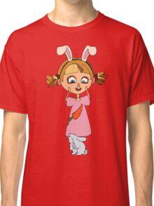 Funny bunny girl Classic T-Shirt