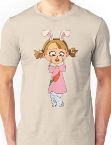Funny bunny girl Unisex T-Shirt