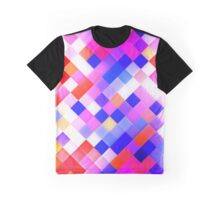 Abstract Geometric Square Pattern Graphic T-Shirt