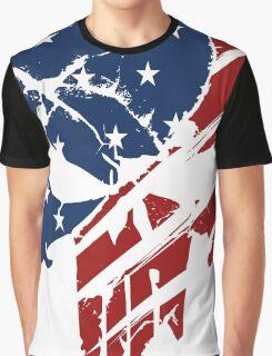 American Skull Graphic T-Shirt