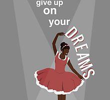 Ballerina Dream Graphic (Peach) by NydiaSRobles