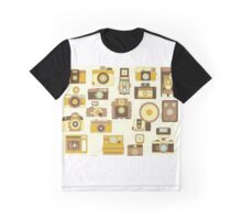 Vintage Camera in Brown Graphic T-Shirt
