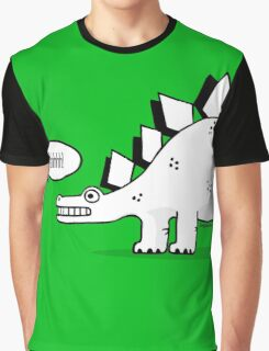 Cartoon Stegosaurous Graphic T-Shirt