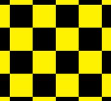 Checkered Black and Yellow Sticker