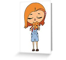 Girl with cookie Greeting Card