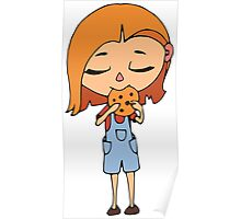 Girl with cookie Poster