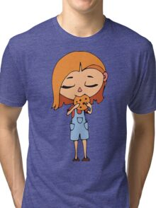 Girl with cookie Tri-blend T-Shirt