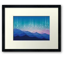 Star fall Framed Print