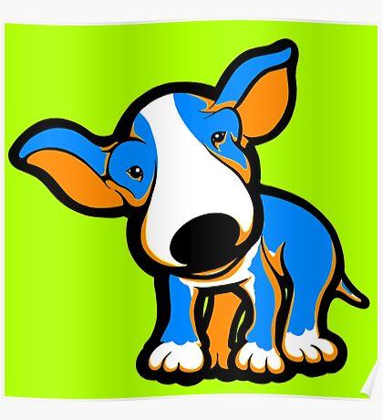 IrnBru English Bull Terrier Puppy  Poster