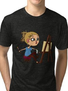 Artist at work Tri-blend T-Shirt