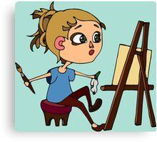 Artist at work Canvas Print