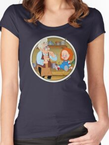 The Puppeteer and his doll  Women's Fitted Scoop T-Shirt